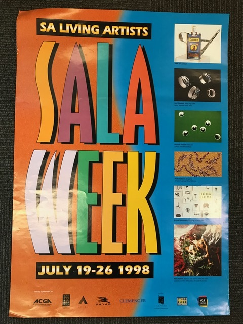 SALA Week poster from 1998, the inaugural SALA Festival Event.
