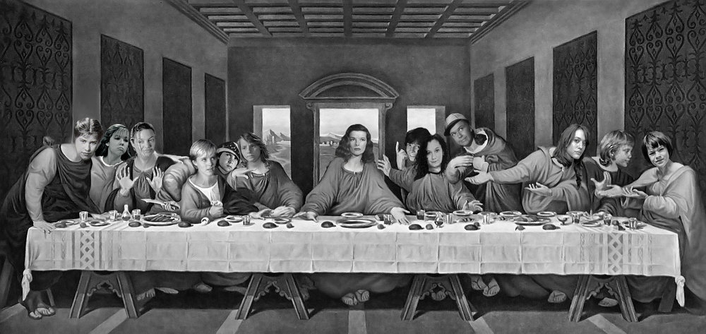 Sarah Tickle,  My last supper  (2014), digital photomontage