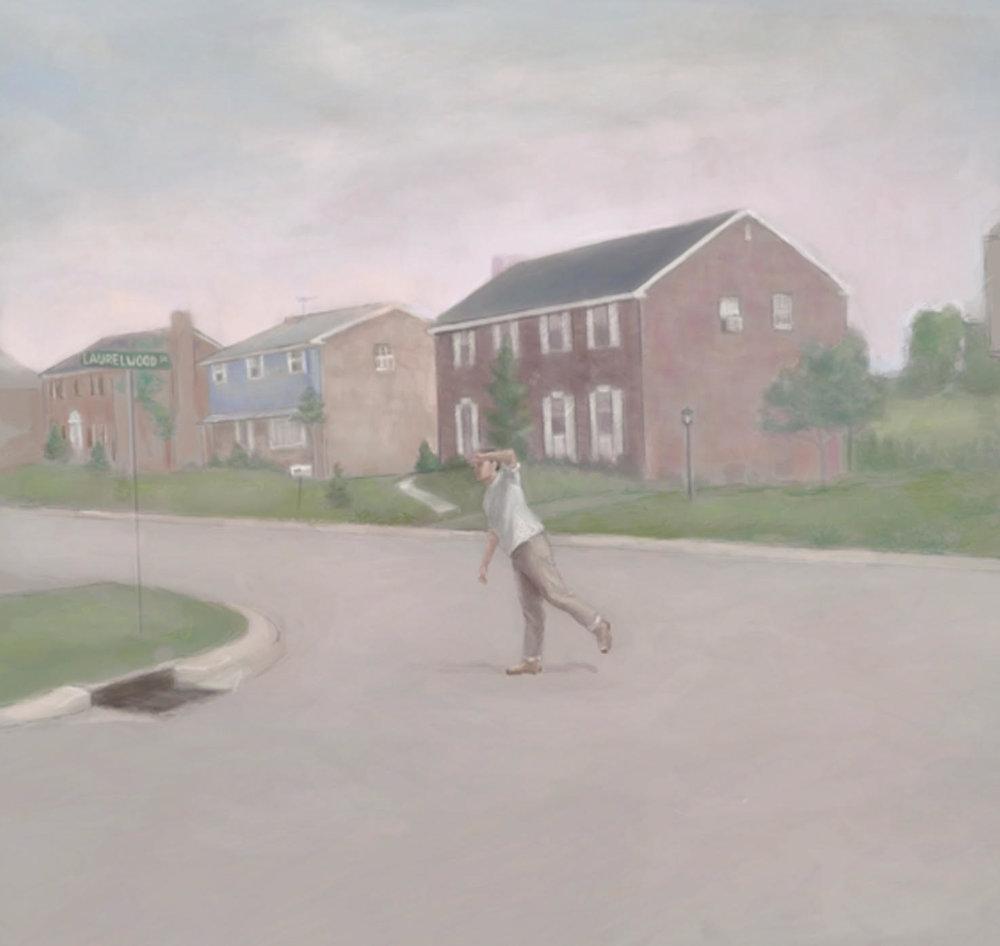 Alex M. Beckinsale,  Laurelwood Drive  (work in progress), 2017,digital painting.