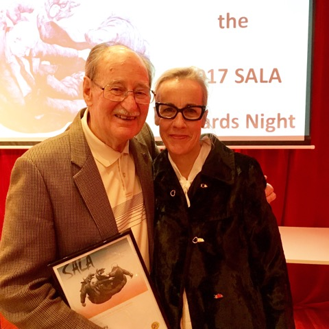 Cassie Thring and Len Harvey, SALA awards night, 2017