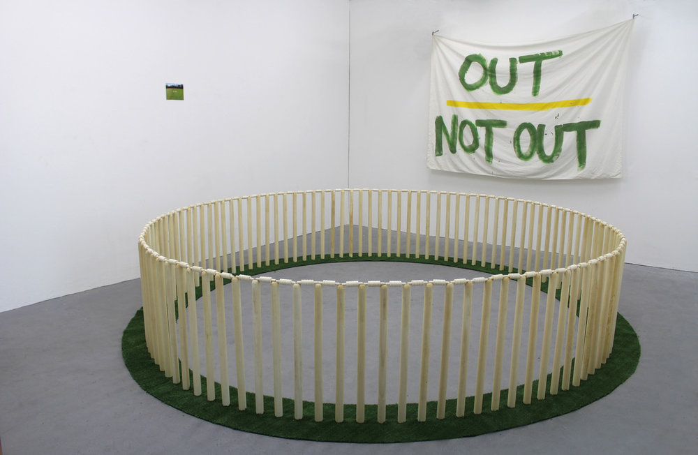 Yannick Blattner,  Out/Not-Out,  Installation View, 2014