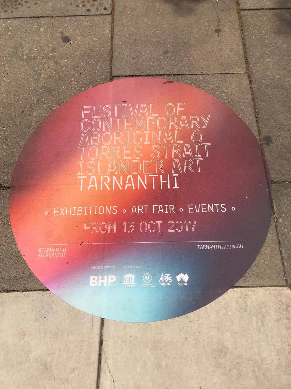 One of the TARNANTHI Festival spots seen on the streets of Adelaide