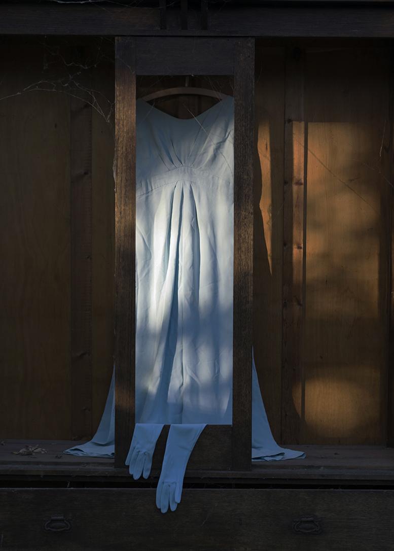 Sonara Krix,  Threads of Wood & Blue,  2016, Colour Poster Print, 84 x 59 cm.