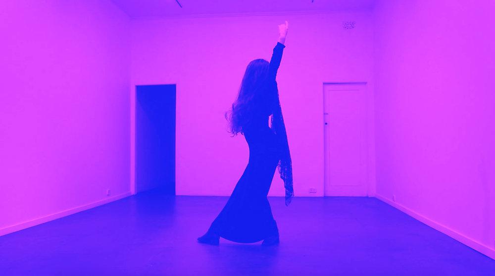 Elise Bonato,  The Violet Hour , 2017; single channel HD digital video installation, digital video still; 13:33 secs loop, colour, stereo sound. Image courtesy of the artist.