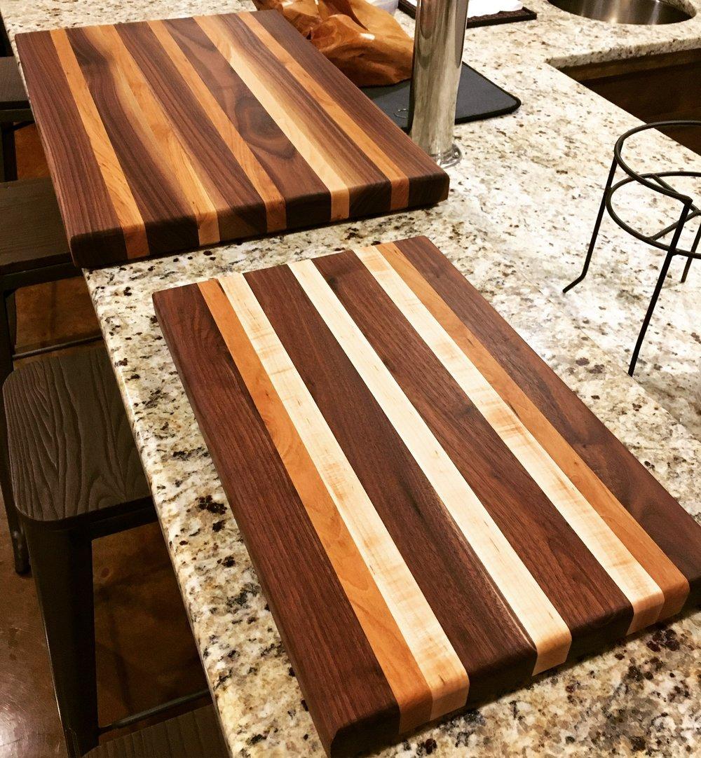 walnut/cherry/maple cutting boards