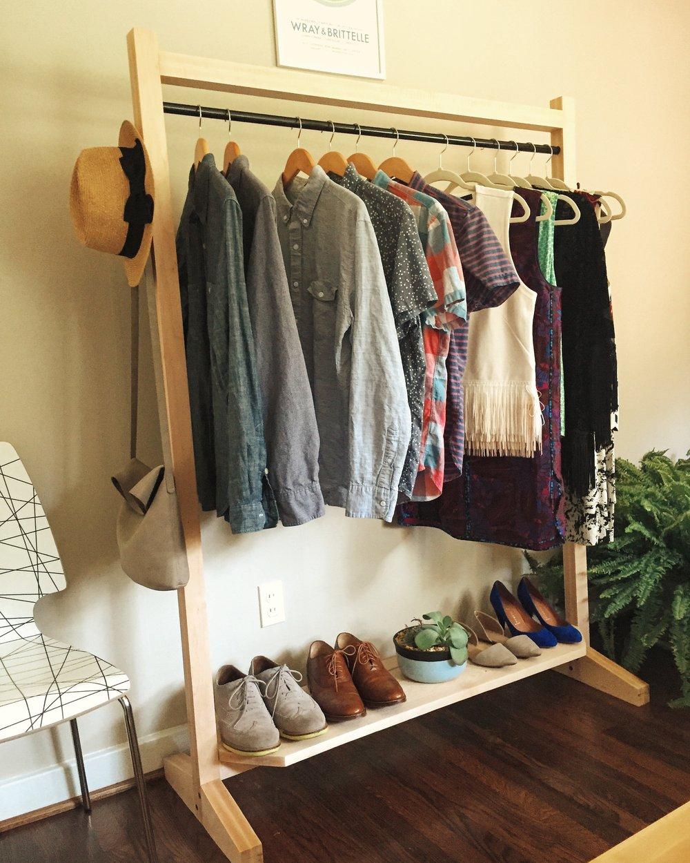 maple garment rack