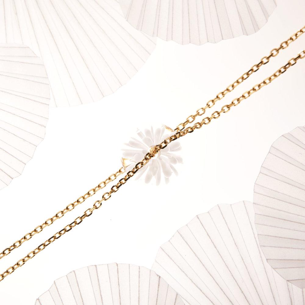 bracelet fait main fleur de verre - blanc - dentelle givree .jpg