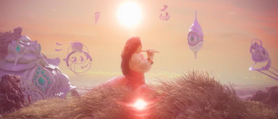 Image from Bjork's new video  The Gate