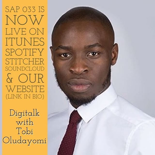 On SAP 033 we chop-it-up with Tobi Oludayomi the co-founder of @studio14online 👨🏾‍💻 🎯 😎 Top tips on building your brand in the competitive digital space from one of the top 100 most influential people in digital. Follow the 🔗 in our bio.