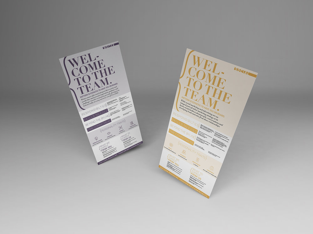 pattern magazine - company marketing COLLATERAL