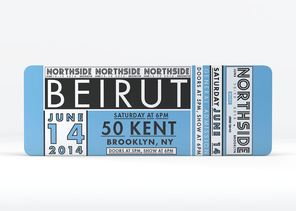 NORTHSIDE music festival - event ticket design