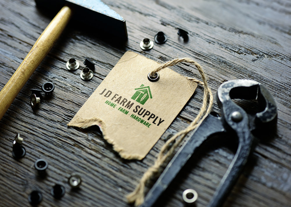 jd farm supply - brand identity