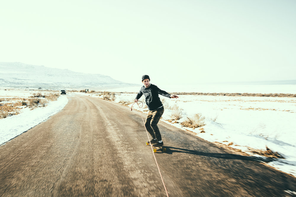 Antelope Island Long Boarding - Sasquatch The Bus