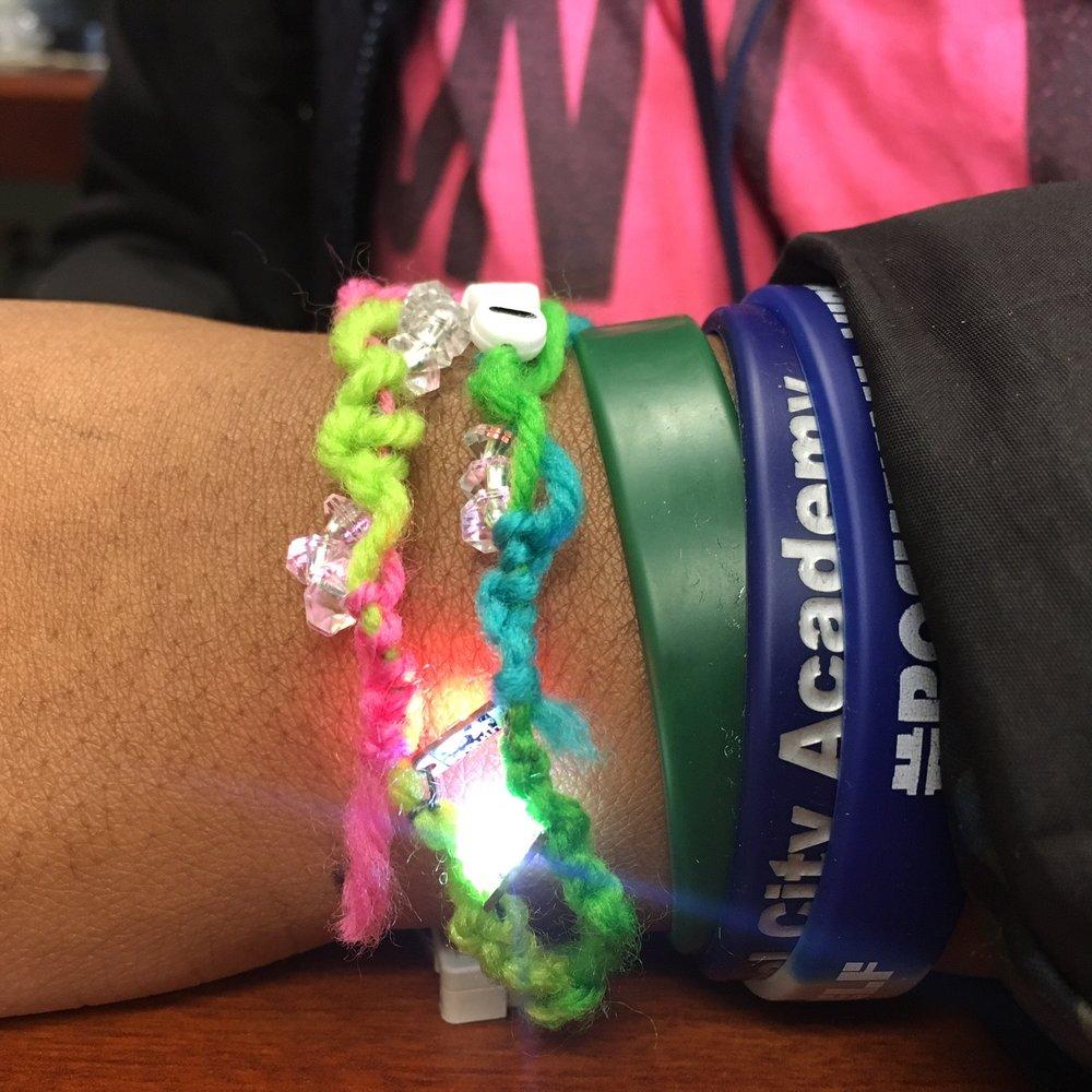 Student made LED bracelet.