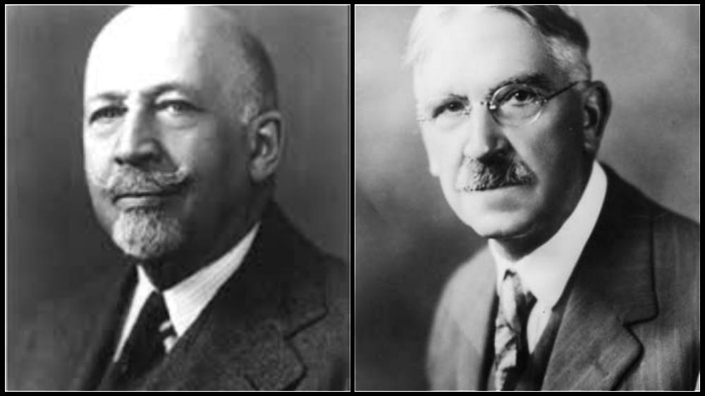 W.E.B. Du Bois (Left), Dewey (Right)