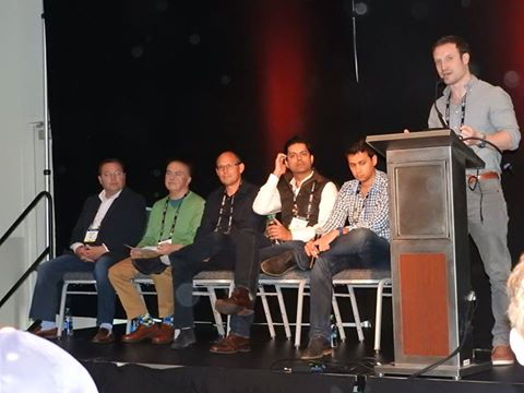 Jeff Wasson (Boost VC), Marco Di Miroz (The VR Fund), Jim Scheinman (Maven Ventures), Me, Amitt Mahajam (Presence Capital)