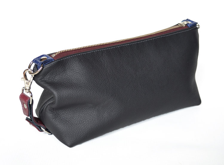 Lolafalk — The Otto Leather Toiletry Bag in Black 8488d3d524761