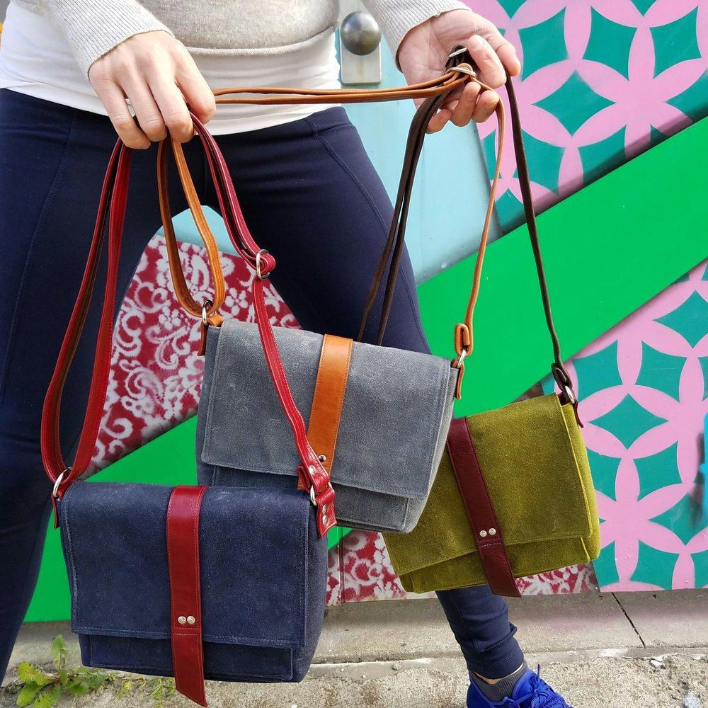 Davy Waxed Canvas Mini Messenger Bag