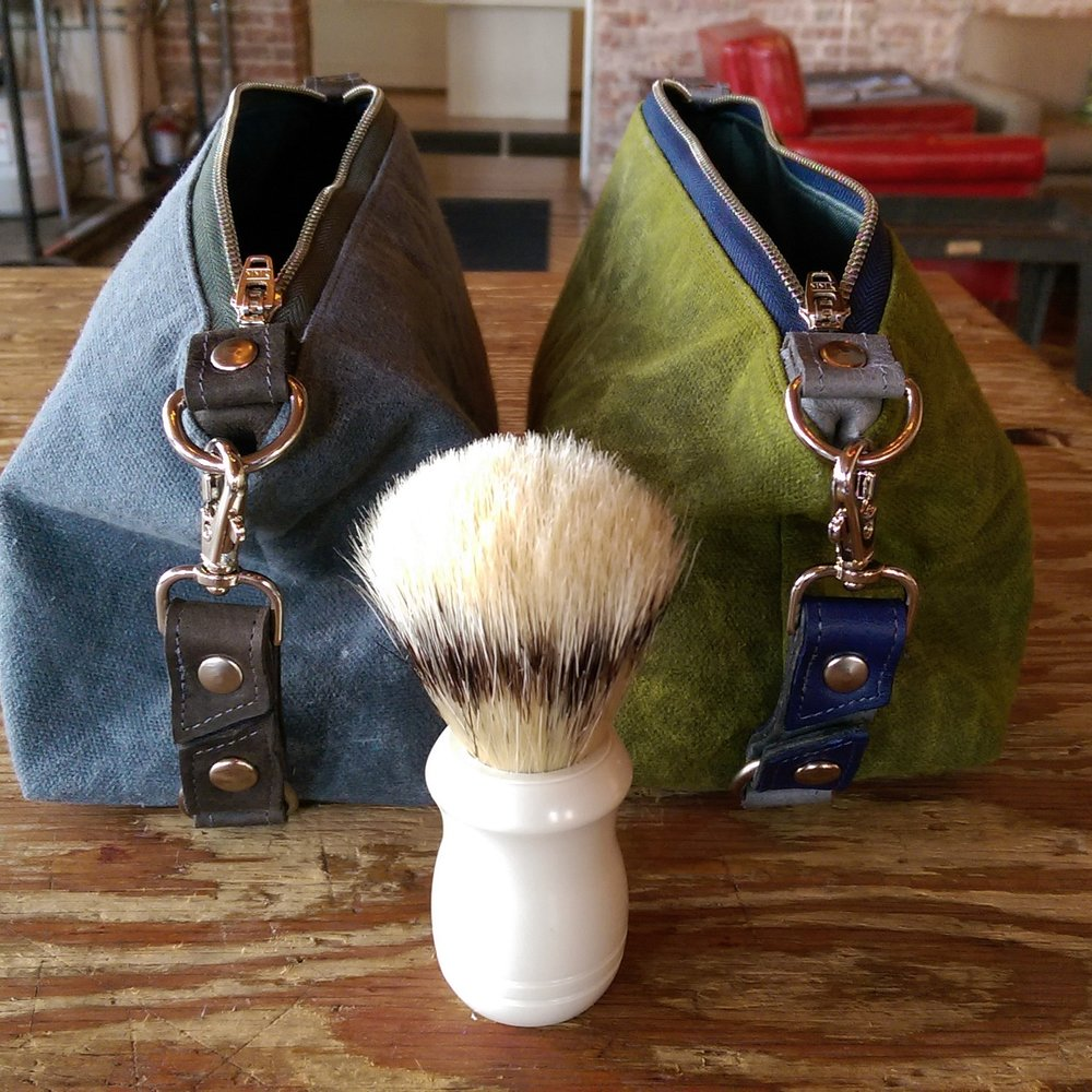 Otto Waxed Canvas Shave Bag