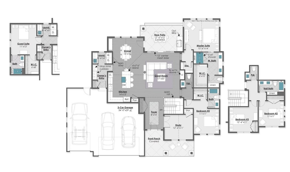 Main Level with Optional Casita - 2,119 Square Feet