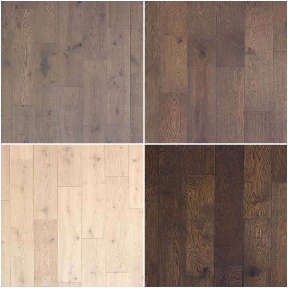 Elements Engineered Floor in 4 color options (placed per plan)