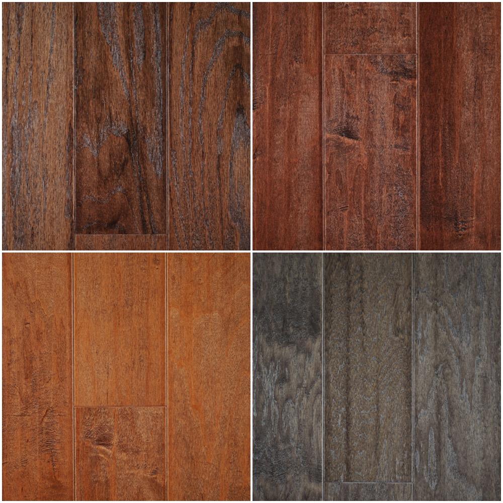 Oakmont Engineered flooring in 4 color options (Placed per plan)