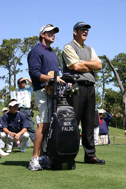 Jeff with Sir Nick Faldo at the Players Championship 2006