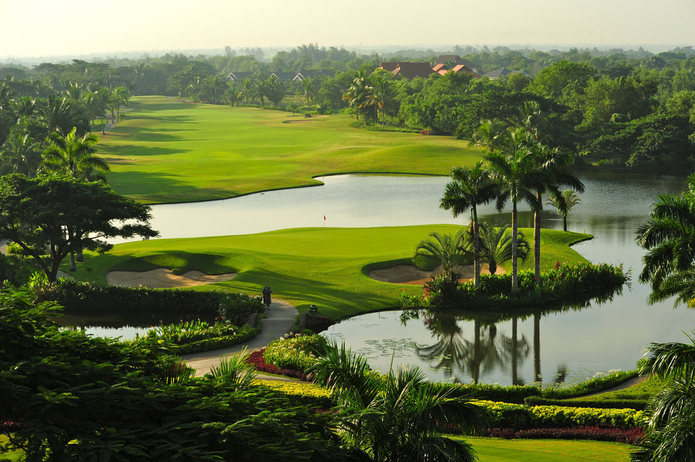 The Pun Hlaing Golf Club is nestled in luscious tropical surroundings