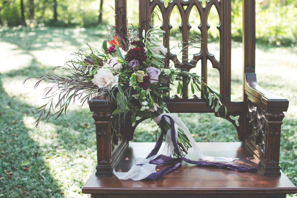 Antique Chair Decor for Halloween Inspired Wedding