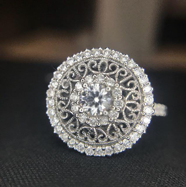#beauty  #Intricate #Filigree #Diamond #RingGoals #ring #GabrielandCo  Style R0584  PRADEZ #14k 0.75 #carat #Diamonds