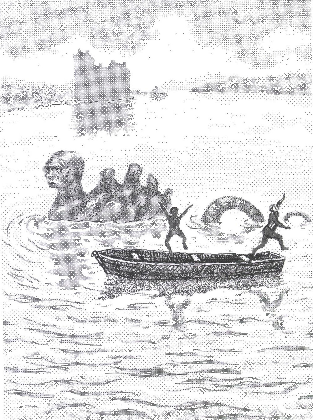Loch Ness Monster , 1998. Microsoft Paint image, printed on rice paper.
