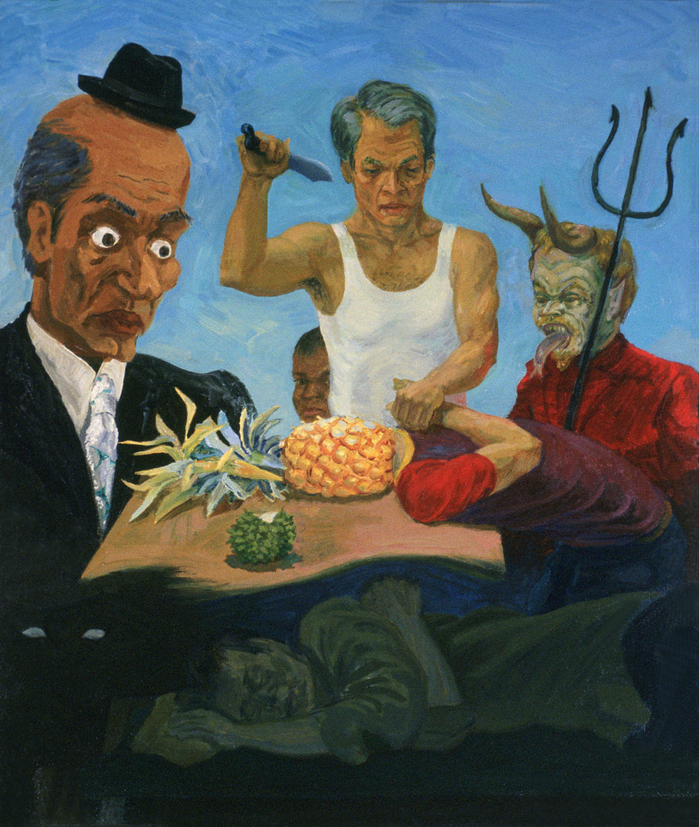 """Nightmare, 1979. Oil on canvas. 36"""" X 30"""". Private collection."""