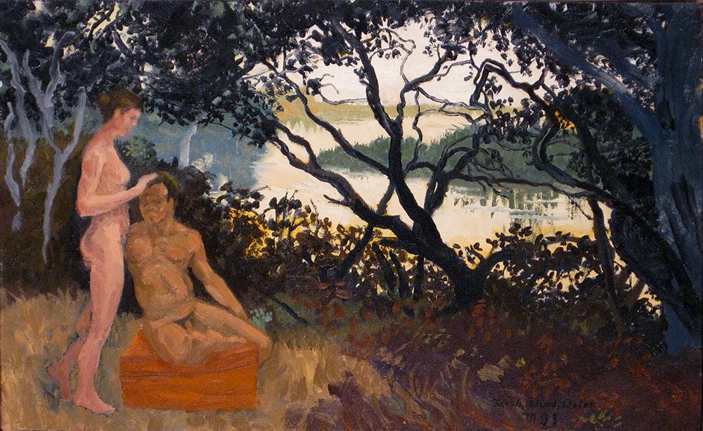 1.  Flesh, Wind, Water, 1991. Oil on canvas