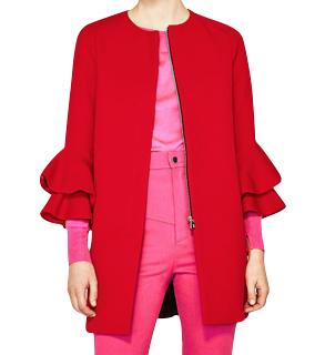 Zara Frilled Sleeve Coat