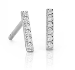 Blue Nile Diamond Bar Earrings
