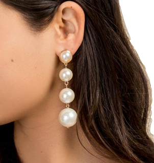Francesca's Pearl Earrings
