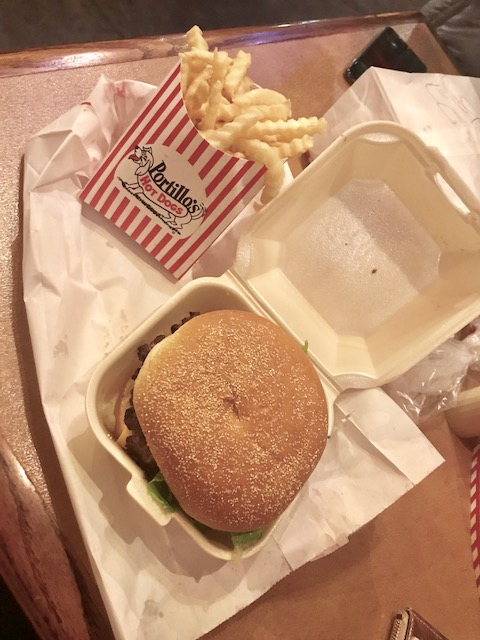 Biggest pregnancy craving was this Portillos cheeseburger with fries. Ate this 2-3 times every week for the first few weeks. Only food that did not gross me out!