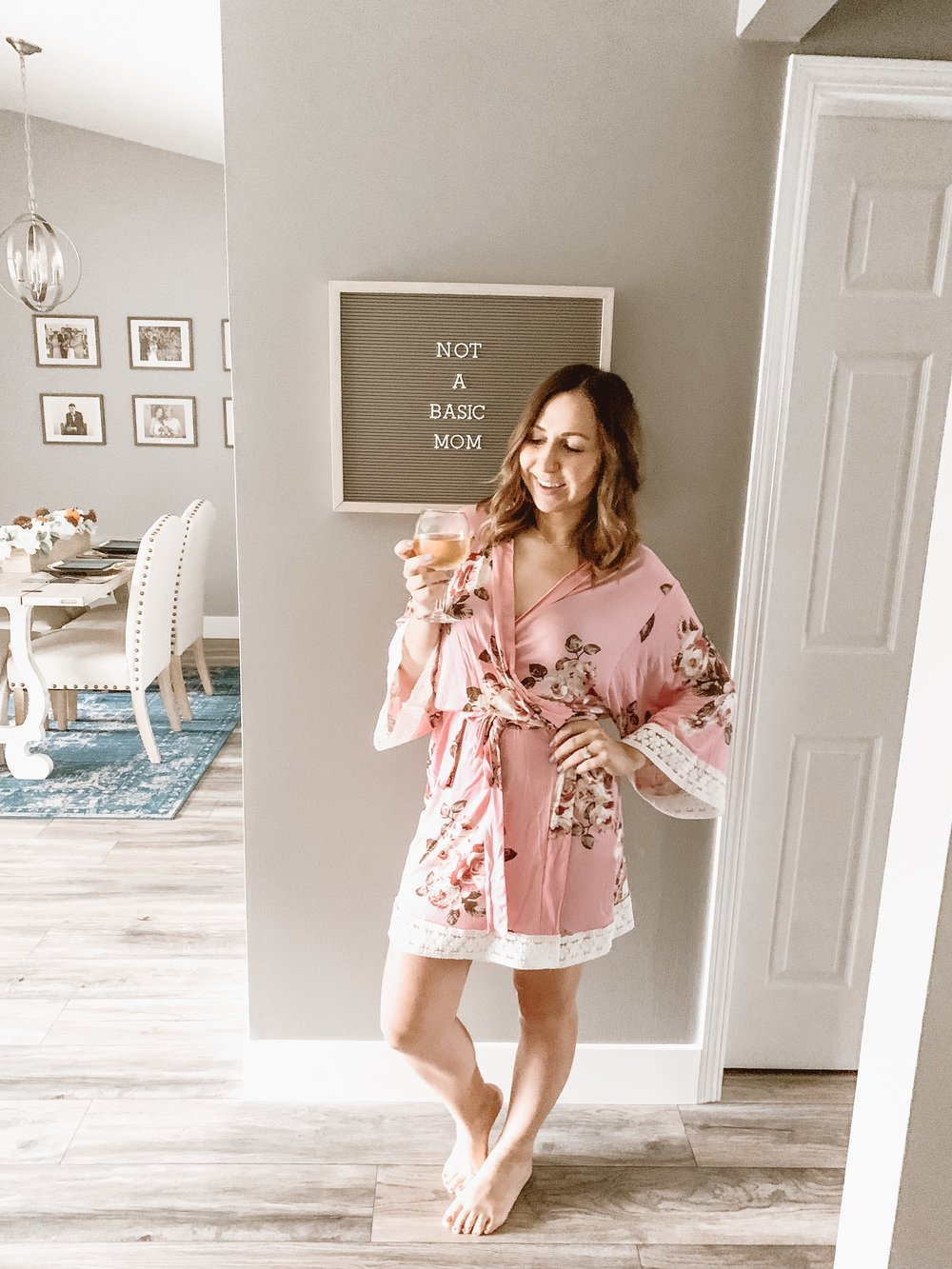 pinkblush robe
