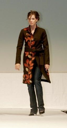 Brown fall jacket.