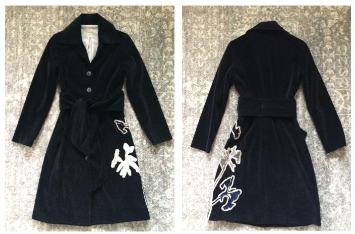 Navy spring jacket.
