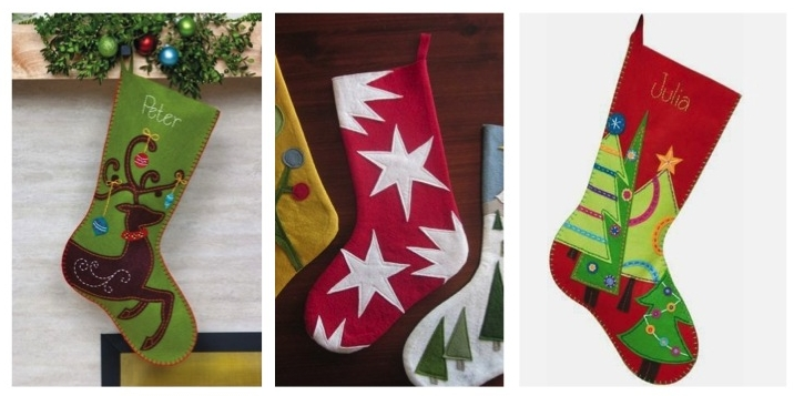 Examples of stockings found on Pinterest I was asked to recreate.