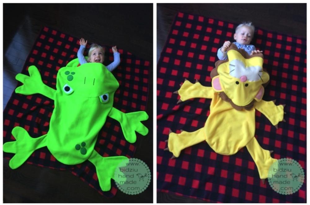DIY animal blanket, DIY fleece blanket, DIY blanket for kids, handmade animal blanket, frog blanket, handmade frog blanket, frog fleece blanket, toddler blanket, fun blanket, bidziu handmade