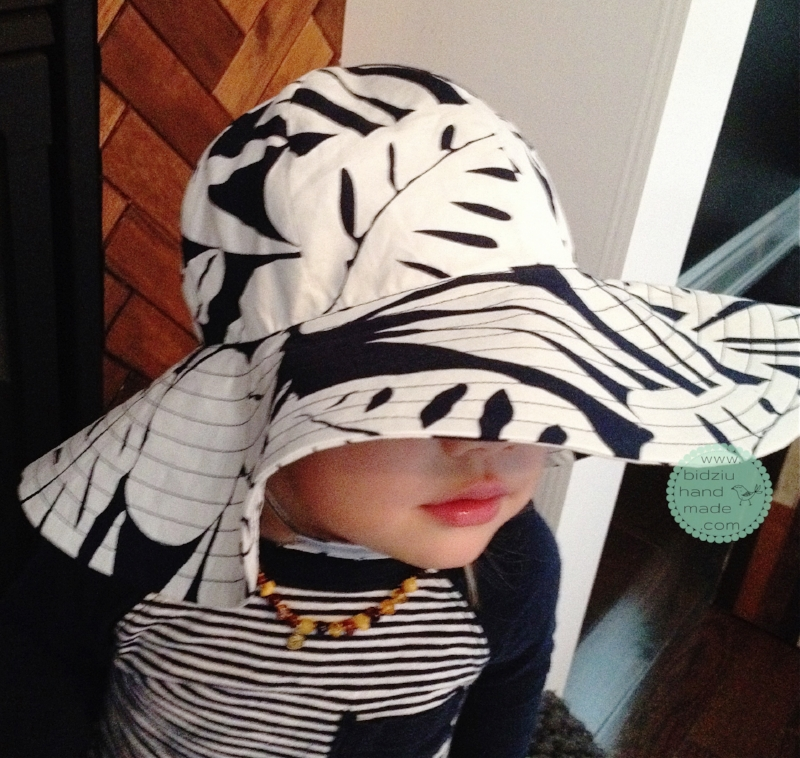 DIY sun hat, DIY summer hat, toddler sun hat, toddler summer hat, stylish hats for kids, functional hats for kids, toddler hat, handmade sun hat, handmade summer, hat, modern summer accessories for toddlers, modern summer accessories for kids, modern hats for kids, modern hats for toddlers, bidziu handmade, bidziu hand made