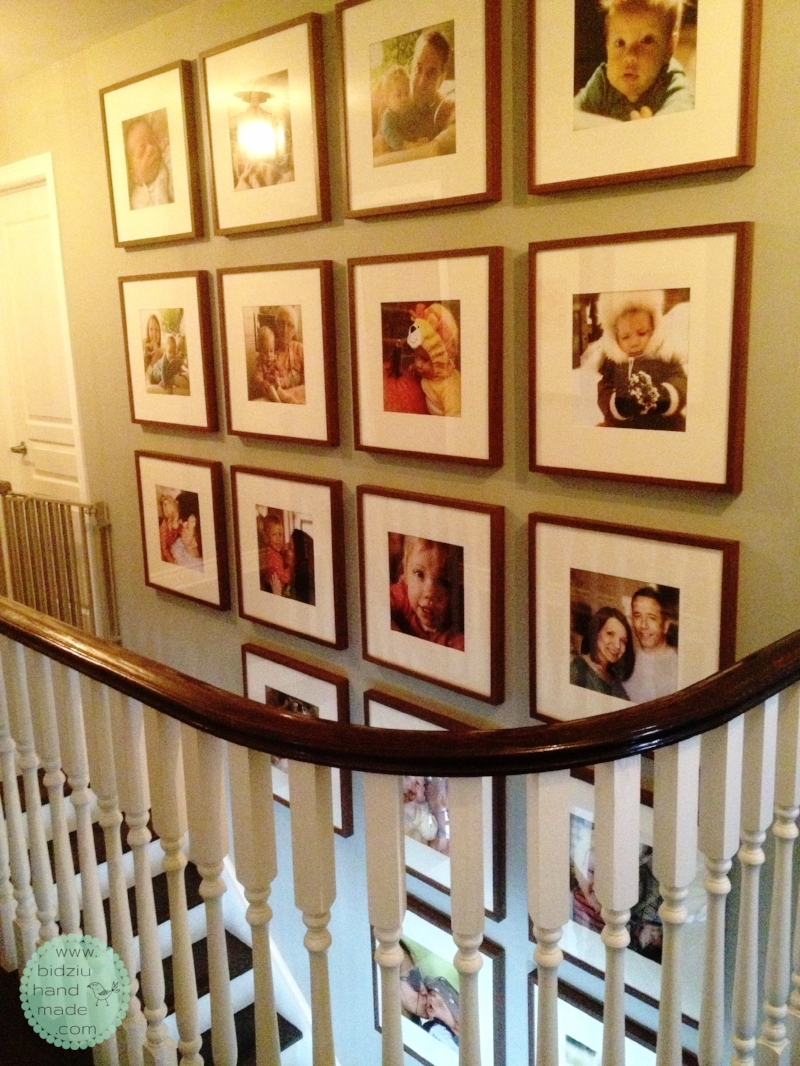 DIY gallery wall, DIY wall art, DIY picture gallery, DIY wall gallery, photography art, photo wall gallery, staircase wall gallery, photographs on stair wall, stair wall decor, stair wall decoration, stair wall picture gallery, family wall, family picture gallery, bidziu handmade, bidziu hand made