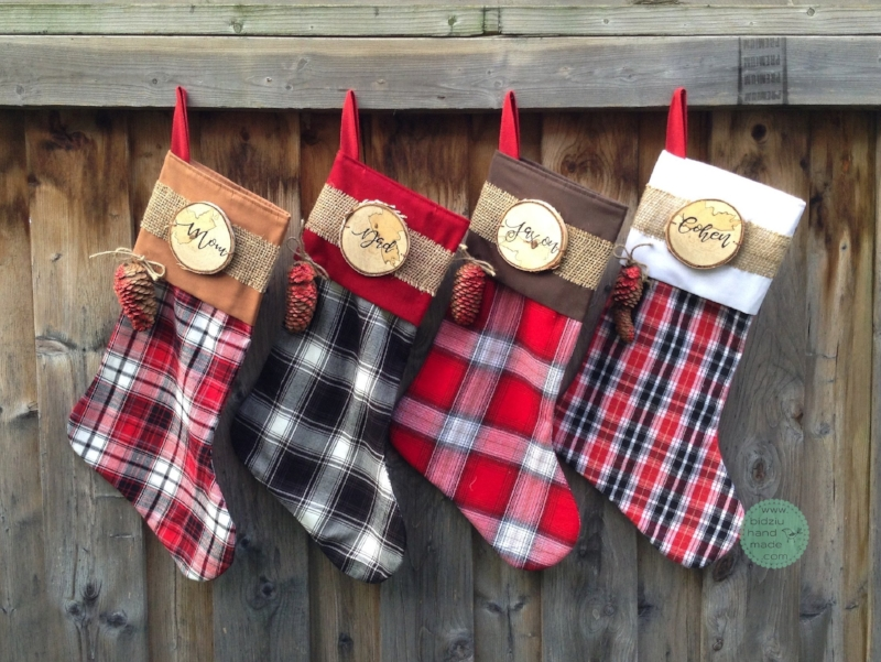 plaid stockings plaid christmas plaid plaid christmas decor plaid christmas stockings