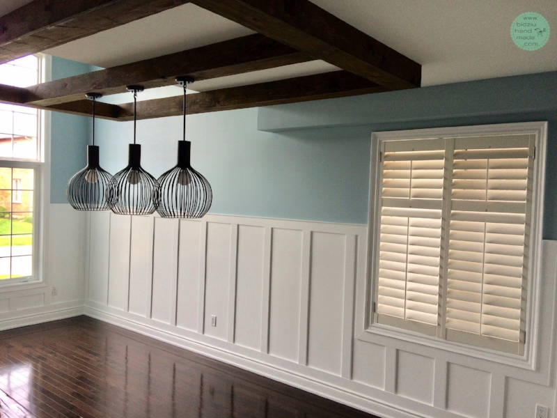 Modern Dining Room Wainscoting.