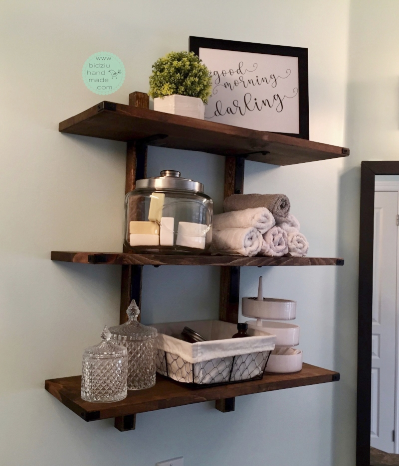 handmade rustic shelf, rustic wood shelf, rustic accent shelf, rustic bathroom shelf, bathroom shelf, handmade wood shelf, wood shelf, rustic shelf, industrial wood shelf, handmade shelf, accent shelf, trendy shelf, trendy wood shelf, modern bathroom, bathroom style, trendy bathroom accents, trendy bathroom, bathroom, shelf, shelves, industrial shelf, wood project, handmade wood project, woodworking, woodworking project, DIY shelf, DIY accent shelf, DIY home projects, DIY home project, DIY wood shelf, DIY home, DIY, modern home accents, modern home decor, DIY home decor, DIY accents, DIY home accents, DIY bathroom accents, trendy home accents, bidziu handmade bidziuhandmade