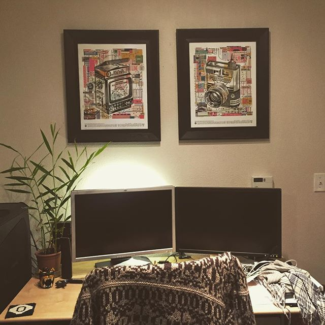 New addition to the studio decor. Framed and hung sweet Adobe Max 2017 posters! #adobemax #adobe #frenchpaper #csadesign