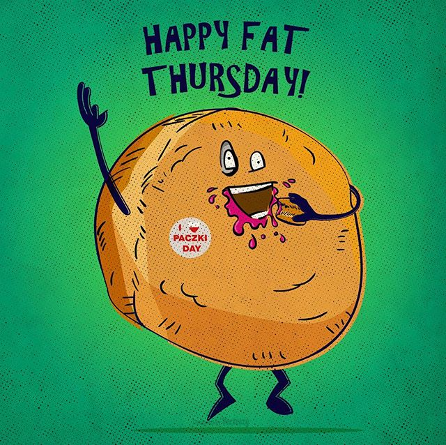 Happy Fat Thursday! Anyone know where I can get some paczkis in Denver, Co  #fatthursday #paczki #denver #illustration #donuts #oscaralatorre #tothetower #art #hungry