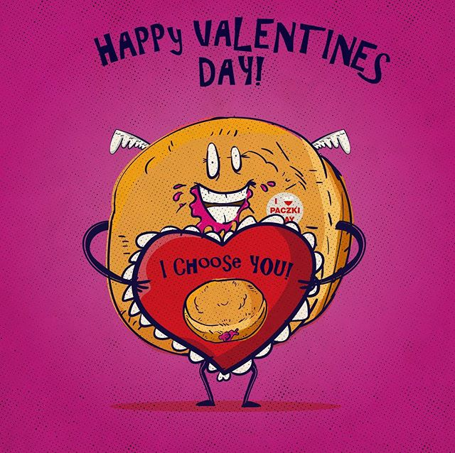 Give that special someone a paczki... and send me some too!  #tothetower #oscaralatorre #illustrator #illustration #art #paczki #paczkiday #valentinesday #valentinesgift #valentinescard #love #heart #happyheart #donuts #pink #towermonsters